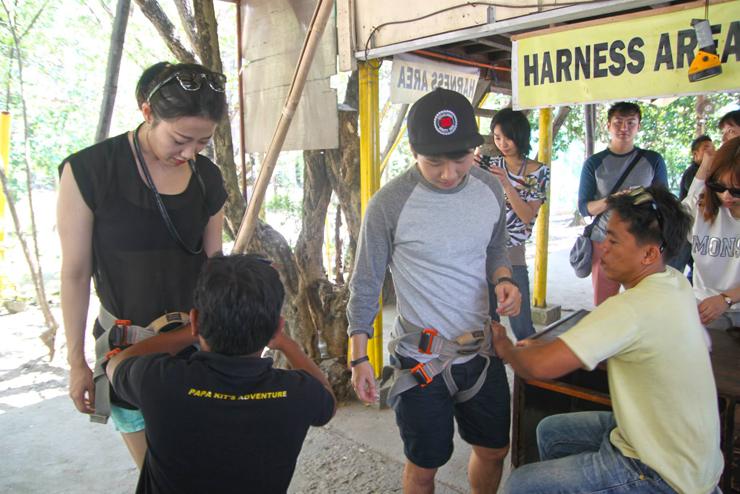 Zipline at Papa Kit's Marina